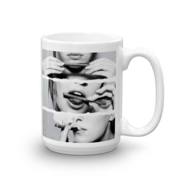 Sexy Girl Rolling Blunt Coffee Mug