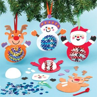 Sequin Christmas Character Decoration Kits #bemorefestive @Marisa Pennington Foster