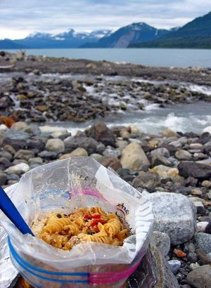 This backpacking recipe can be prepped FBC (Freezer Bag Cooking) or one pot method, for a quick, hearty meal. Options for vegetarian and also for using either dehydrated cooked pasta, or uncooked pasta. Chili Mac Ingredients: 4 ounces cooked and dehydrated small pasta shapes (see below) 2 Tbsp cooked and dehydrated hamburger or 'beef' tvp… Continue reading Chili Mac