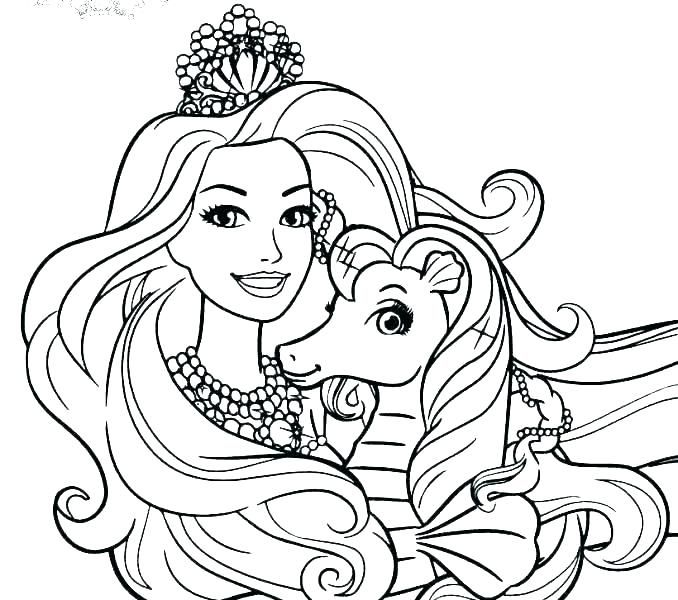 Barbie Coloring Pages - Free download images with Barbie ...