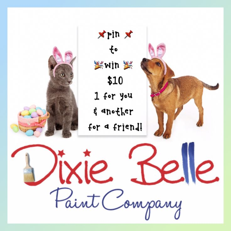 PIN TO WIN TEN FOR YOU AND A FRIEND!  1) Follow Dixie Belle Paint Company on Pinterest & IG.  2) Pin THIS Dixie Belle photo. Then you will be entered to win a ten dollar gift card! One for you and one for a friend!  *(if you already follow just pin THIS photo!)  #chalklife #dixiebellepaint #happyeaster #pintowin #pintowinten #giveaway  #bestpaintonplanetearth