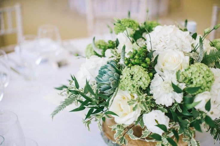 Sophisticated Wedding at Ampleforth Abbey   Lucy MacNicoll Floral Design  neutral ivory green wedding florals succulents