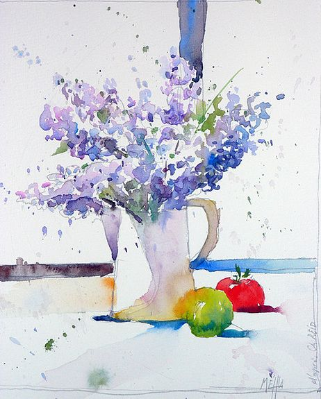 Leçon d'aquarelle avec Mr Reid