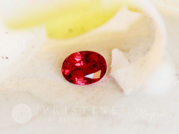 Loose Red Spinel Precision Cut 7.3 x 5.6 MM Oval