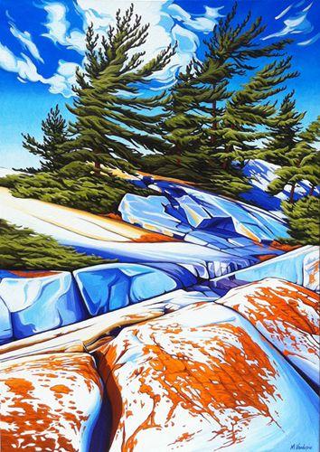 """""""Lichen Fraser Bay"""" by Margarethe Vanderpas"""