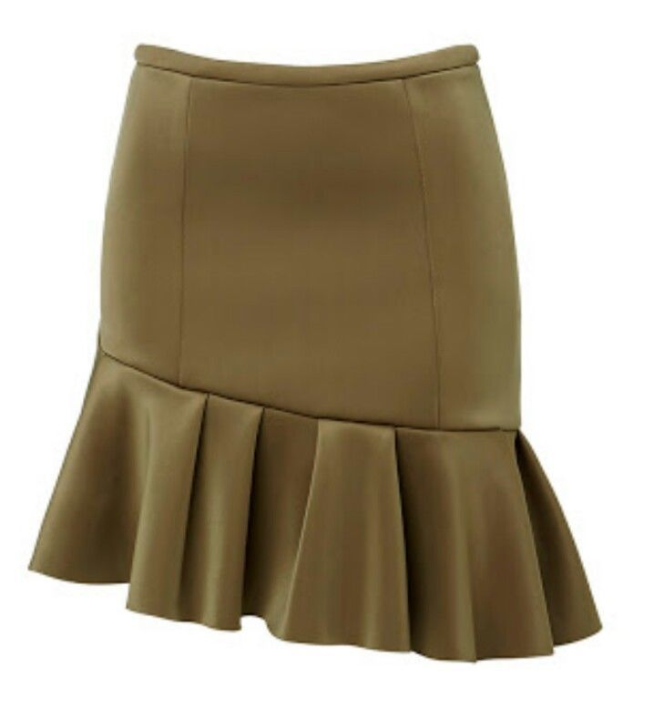 NWT seed heritage one side mini frill skirt olive XS | Clothing, Shoes & Accessories, Women's Clothing, Skirts | eBay!