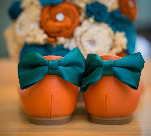 Orange Wedding Shoes, Turquoise And Orange Wedding Colors