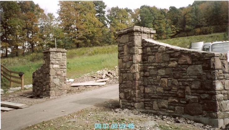 Stone Gate Pillars : Best images about driveway pillars on pinterest