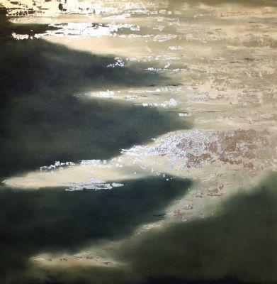 "Fiona Drummond BA: ""Silver Sand"" Original Oil on Canvas"