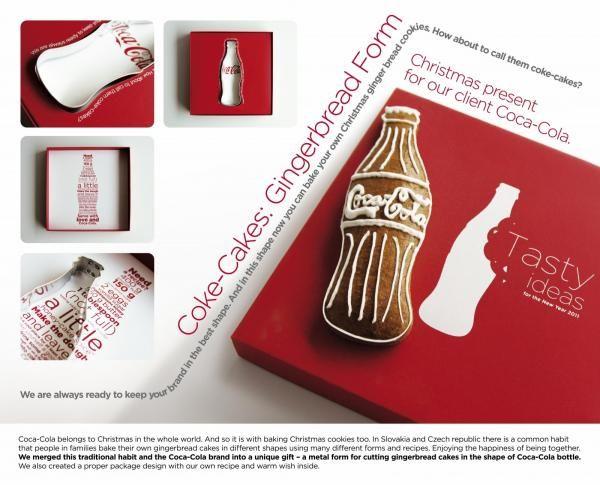 "Self-promotion: ""COKE-CAKES GINGERBREAD FORM"" Direct marketing  by Mayer/mccann Erickson"
