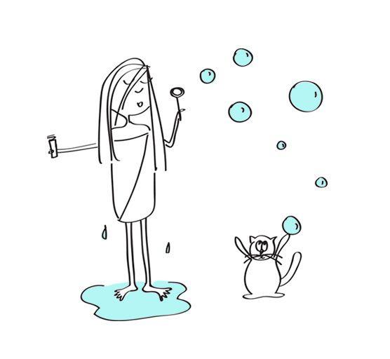 Morning bubbles