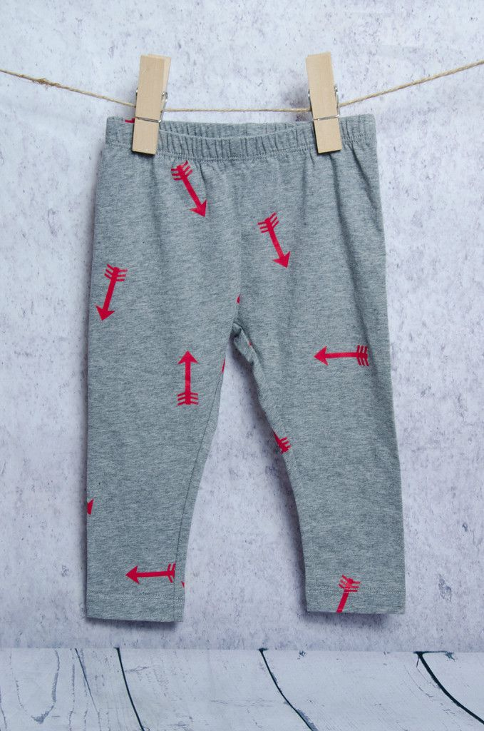Red and Grey Arrow Leggings