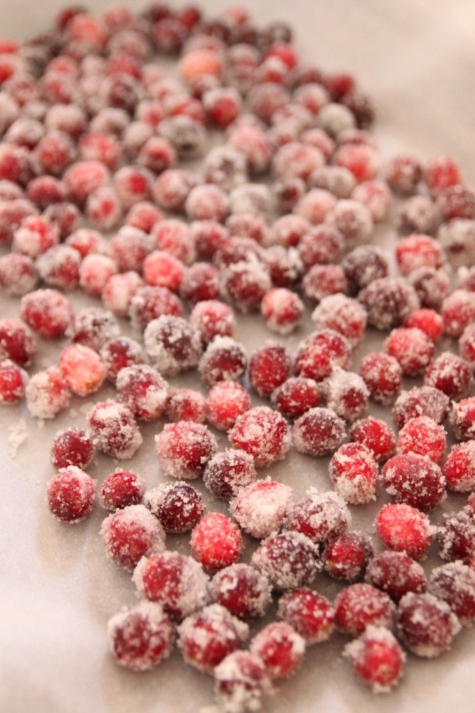 Sugared cranberries - so easy and gorgeous and a fun thanksgiving hostess gift!