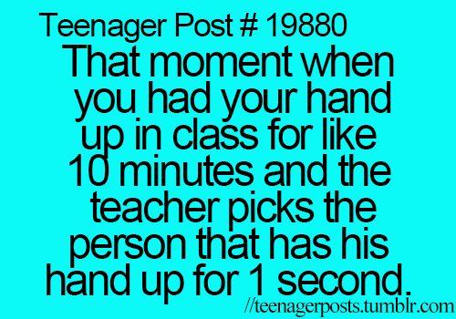 I hate that teacher