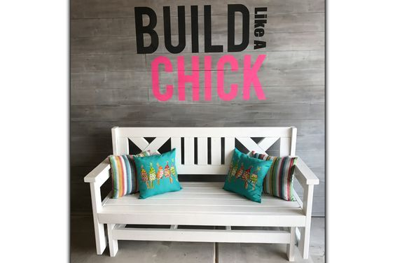 Ashley from Build Like a Chick put together this awesome glider bench!