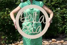 """Extra Large (24"""") Go Greek!™ Circled Wooden Sorority Names - Southern Nest"""