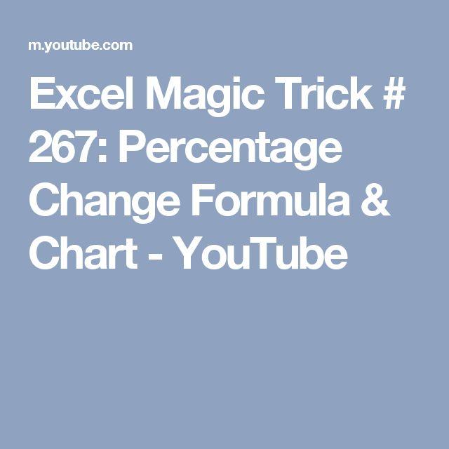 Excel Magic Trick # 267: Percentage Change Formula & Chart - YouTube