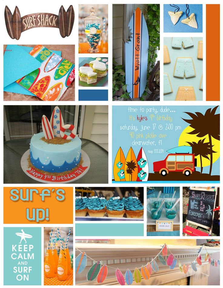 {It's A Muegge Life}: Party Inspiration Board: Surf's Up (Boy Birthday)