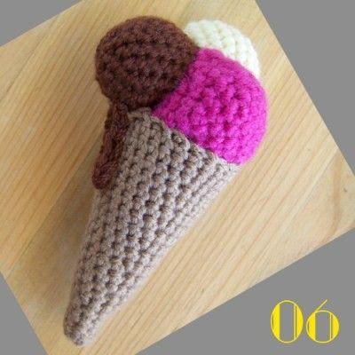 Amigurumi Ice Cream Cone Free Pattern : FREE Crochet Ice Cream Cone Pattern and Tutorial FREE ...