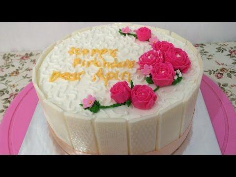 Cara Membuat Blackforest Simple Chocolatos Youtube Cake Decorating For Beginners Fresh Cream Birthday Cake Cake Decorating