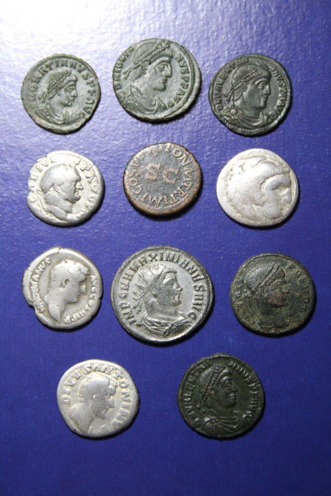 Roman silver coins end bronze mix.11 coins.