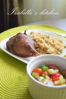 Izabella`s kitchen: Pulpe de rață la cuptor și orez