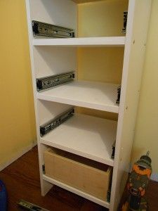 Thank goodness!  I finally found a decent tutorial on drawer glide installation!