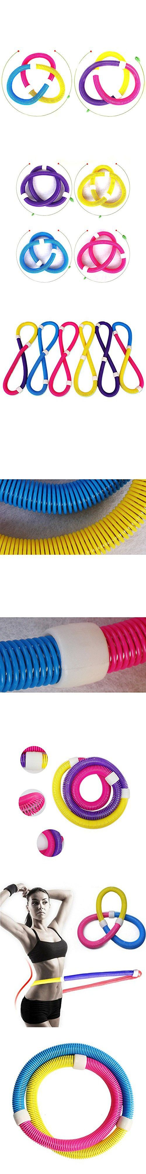 Tri-polar Clearance Sales Soft Yoga Hula Hoop Spring Slimming Thin Waist Fitness Equipment for Home Gym,Pink Yellow Blue