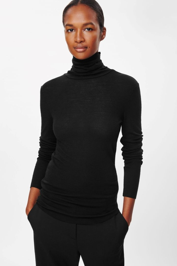 COS | Roll-neck wool top
