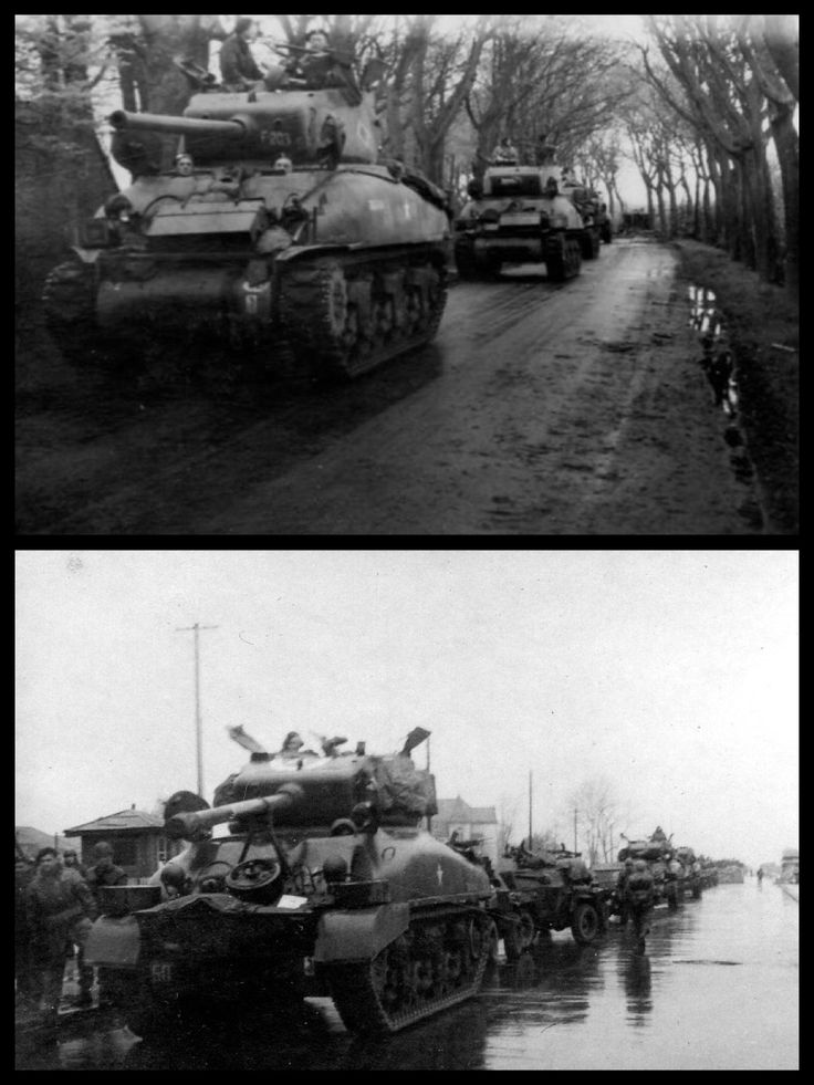 Germany, 6 May 1945. Following the surrender of al German Forces on 4 May 1945 in North-West Europe with the ceasefire declareh for 8:00 hours on 5 May 1945. General Stanislaw Maczek was given the order to occupy Wilhelmshaven, the largest German Kriegsmarine (Navy) base.  1st Polish Armoured Division, Wilhelmshaven, Germany  6 May1945. Belove Bismark-strasse and Schaarreihe.