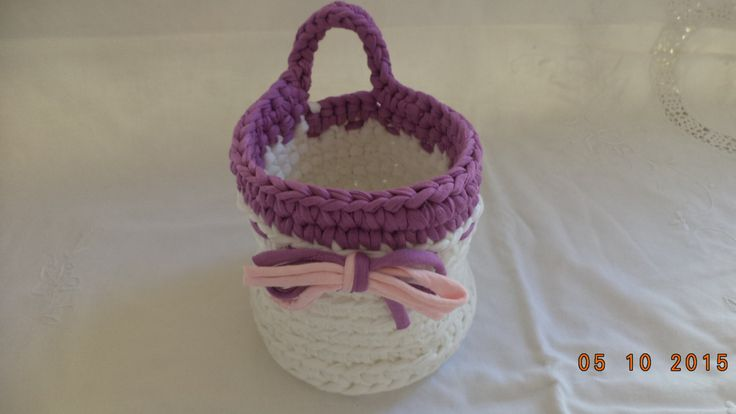 Romantic Knitted Basket, Decorative Basket, Housewarming Gift, Home Decor. by FreeInspirations on Etsy
