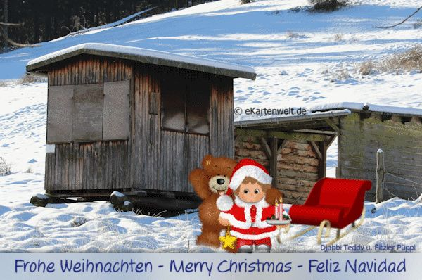 17 best images about weihnachtskarten on pinterest merry christmas deutsch and weihnachten - Animierte weihnachtskarten ...