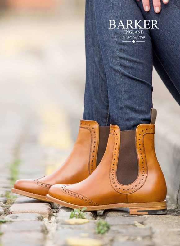 Get The Look: Ladies Chelsea Brogue Boots from Barker Shoes -
