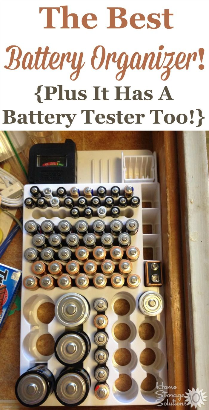 Are you always hunting for fresh batteries? I can't even count the number of readers who've told me this battery organizer, which includes a battery tester, is the best to keep their batteries, of all sizes, together.
