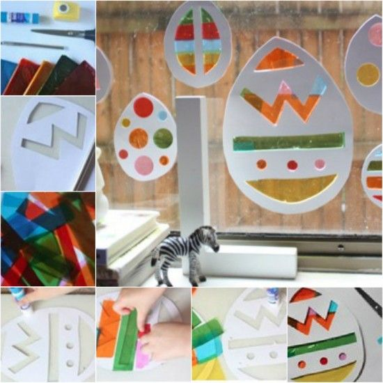 Stained Glass Easter Window Decoration