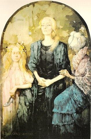Jerzy Duda-Gracz - Portret Aleksandry Śląskiej (1990)