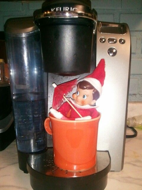 Elf on the shelf coffee shower