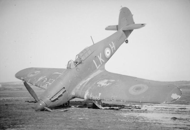 RAF FRANCE SEPT 1939 - MAY 1940 (HU 112449) Hawker Hurricane Mk Is of No. 87 Squadron at Lille-Seclin, France 1940.