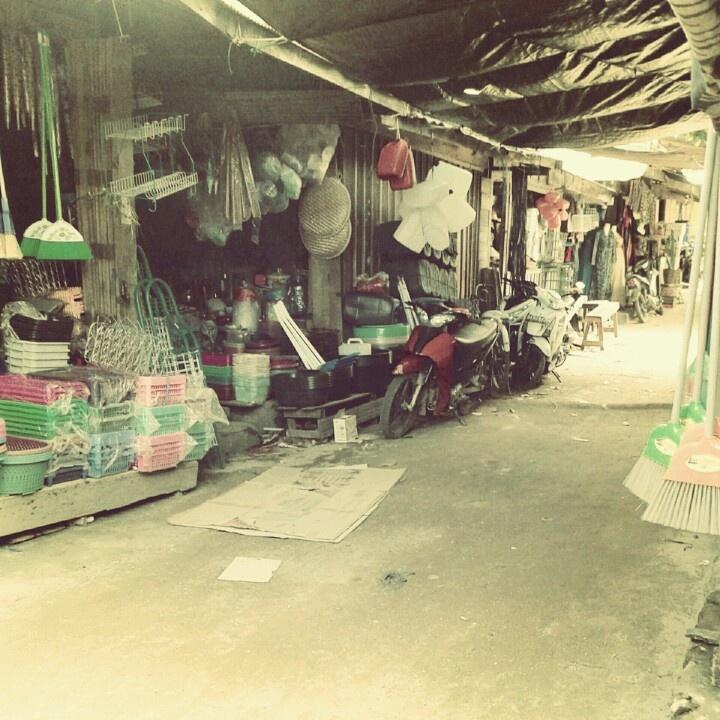 Traditional market of Sungai Danau, Tanah Bumbu district, South Borneo, Indonesia