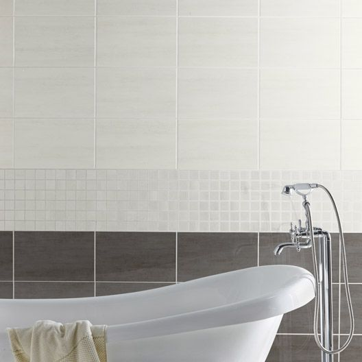 carrelage mural eiffel artens en fa ence blanc 25 x 40 cm salle de bain pinterest ps and. Black Bedroom Furniture Sets. Home Design Ideas