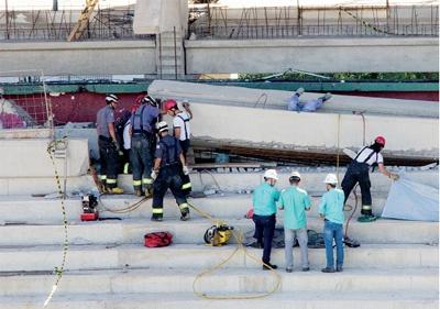 Operário morre em queda de lajes na Arena Palestra