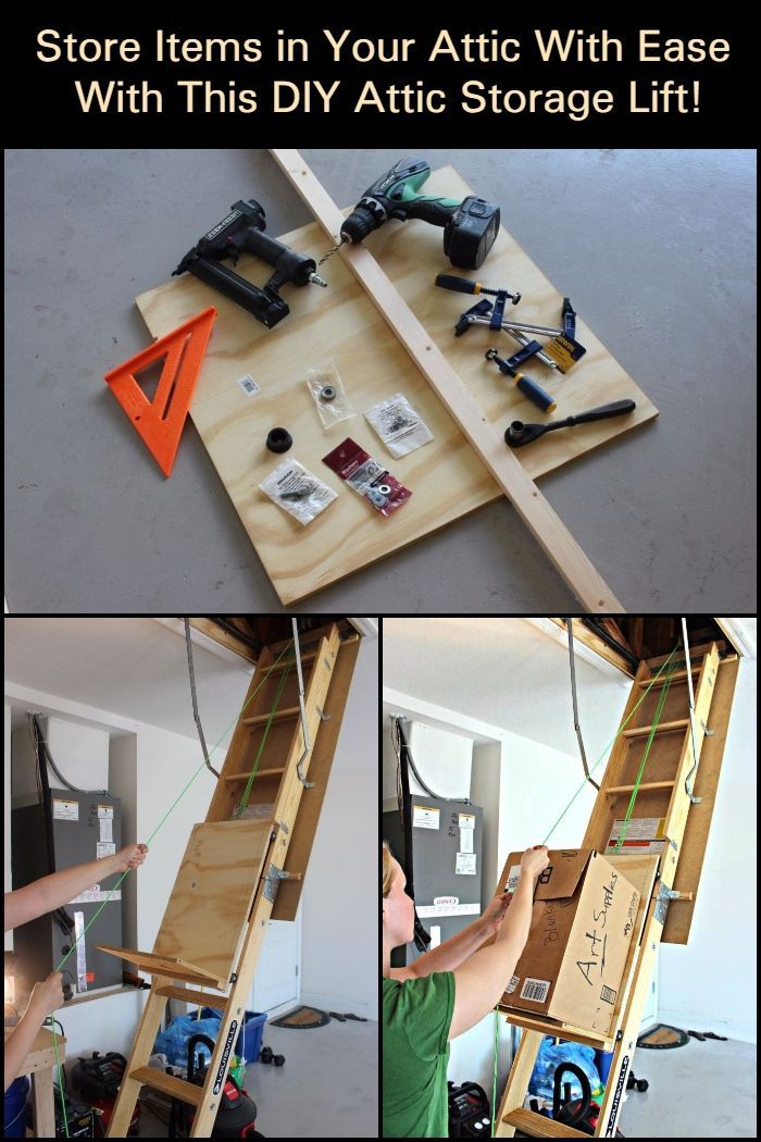 Are You One Of Those Who Always Struggle When You Store Items In The Attic Here S A Clever System That Might Just Be What You N Attic Storage Attic Attic Lift