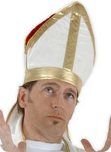 Pope Costume Hat for pastor Tim
