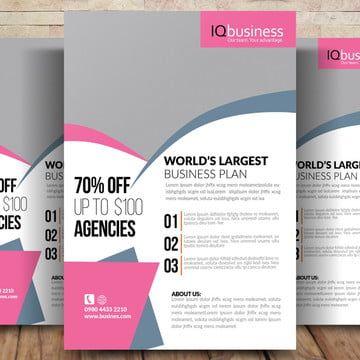 الوكالة التجارية فلاير Word Template Design Word Template Business Flyer