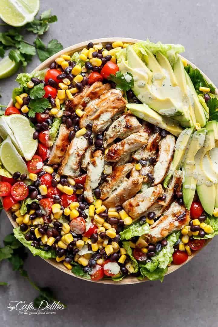 Chili Lime Southwestern Chicken Salad – Salate & Dressings