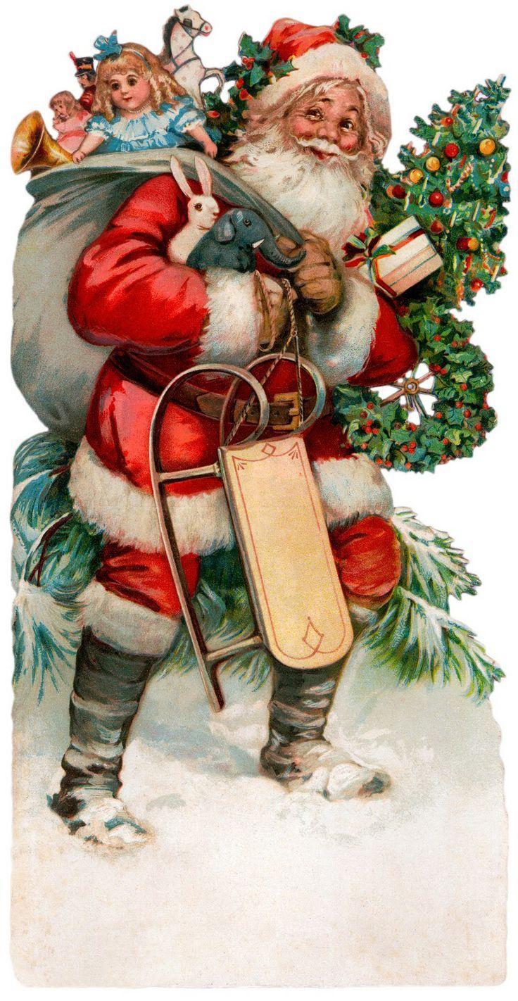 Надписями улыбайтесь, открытка дед мороз ретро
