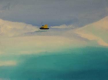 "Saatchi Art Artist Marta Zamarska; Painting, ""Winter Postcard 5"" #art"
