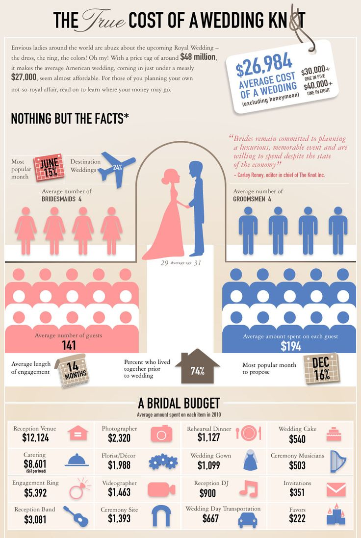 Average wedding cost infographic -- also, why you should DIY! You can have a great wedding on a budget!