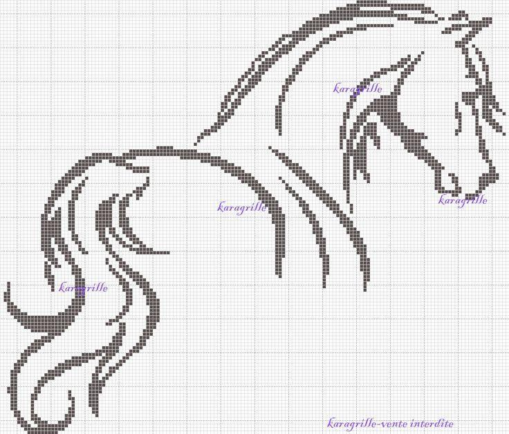 crossstitch horse black - Google Search More
