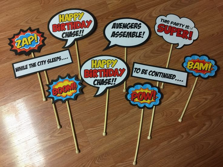 Chase's 3rd Birthday Superhero Photo Booth props
